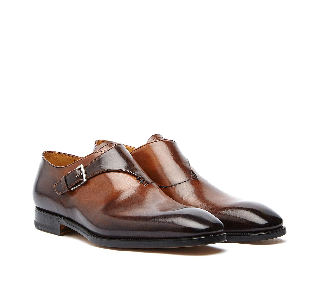 Monk strap model Fabi Flex in luxury hand-buffed calf leather