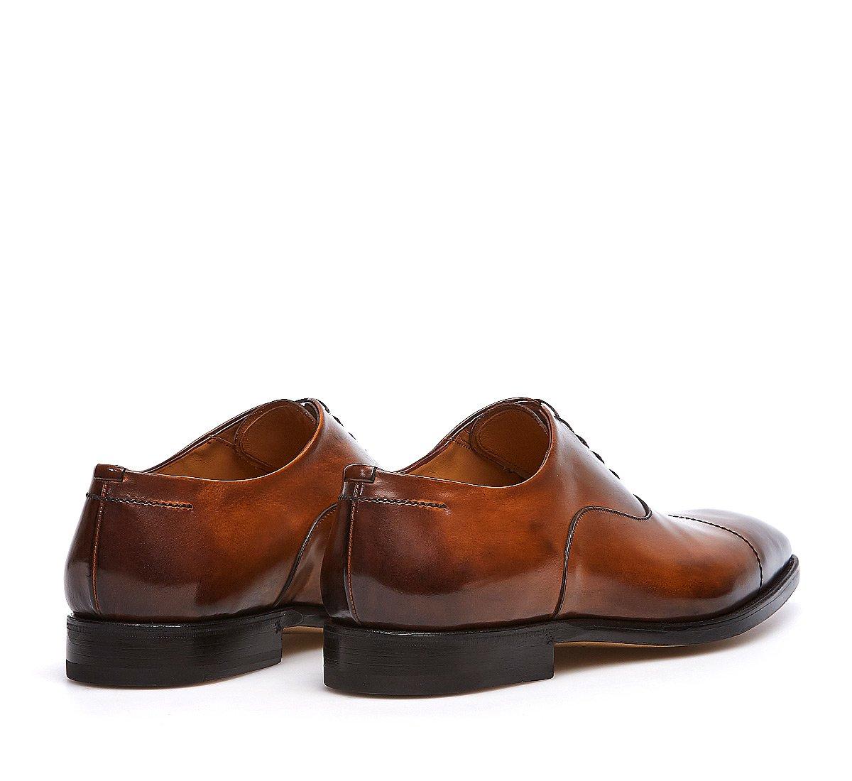 Hand-buffed calfskin Oxfords
