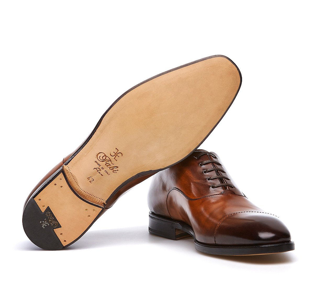 Hand-buffed calfskin Oxfords