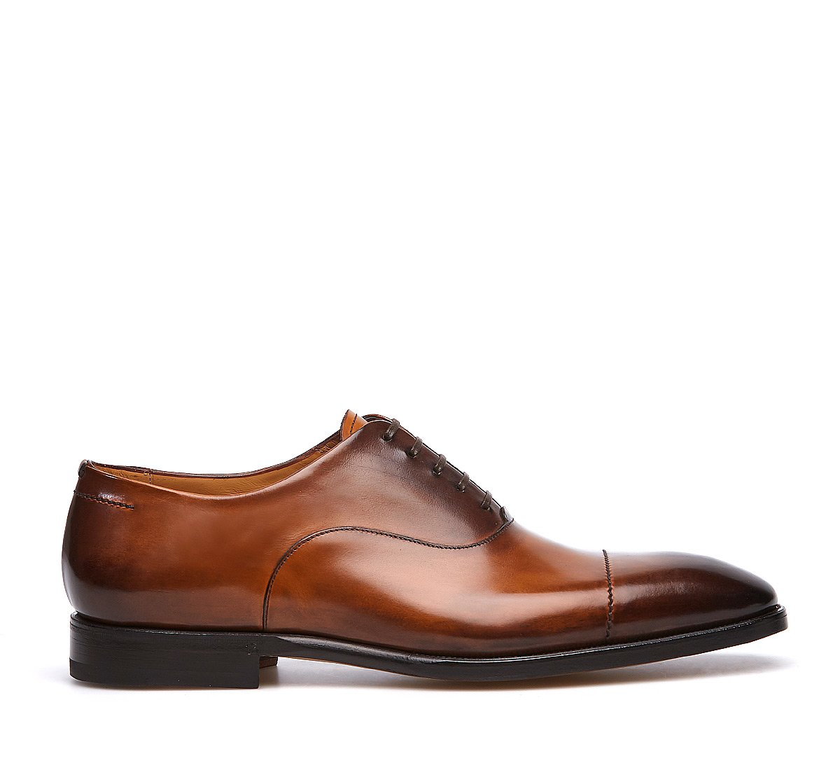 Flex Oxford shoe in hand-buffed calf leather