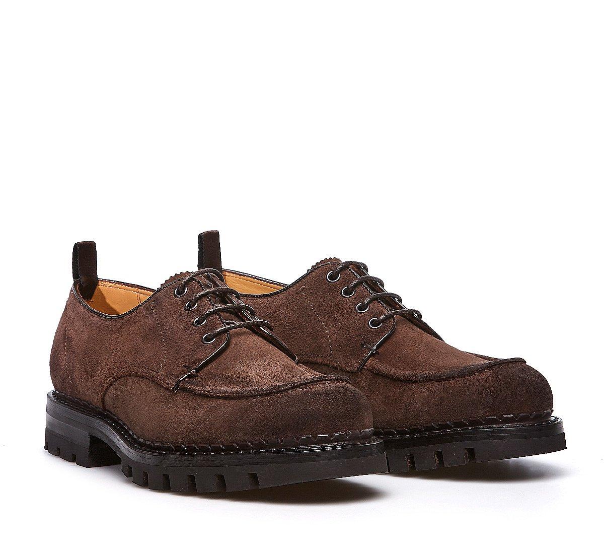 Ботинки на шнурках из замши с технологией Flex Goodyear