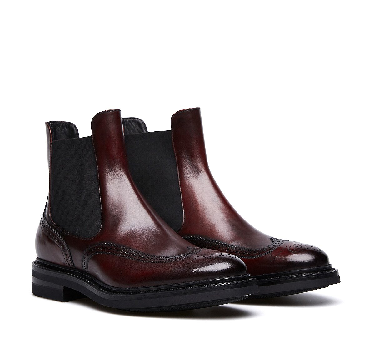 Hand-buffed calfskin Beatle boots