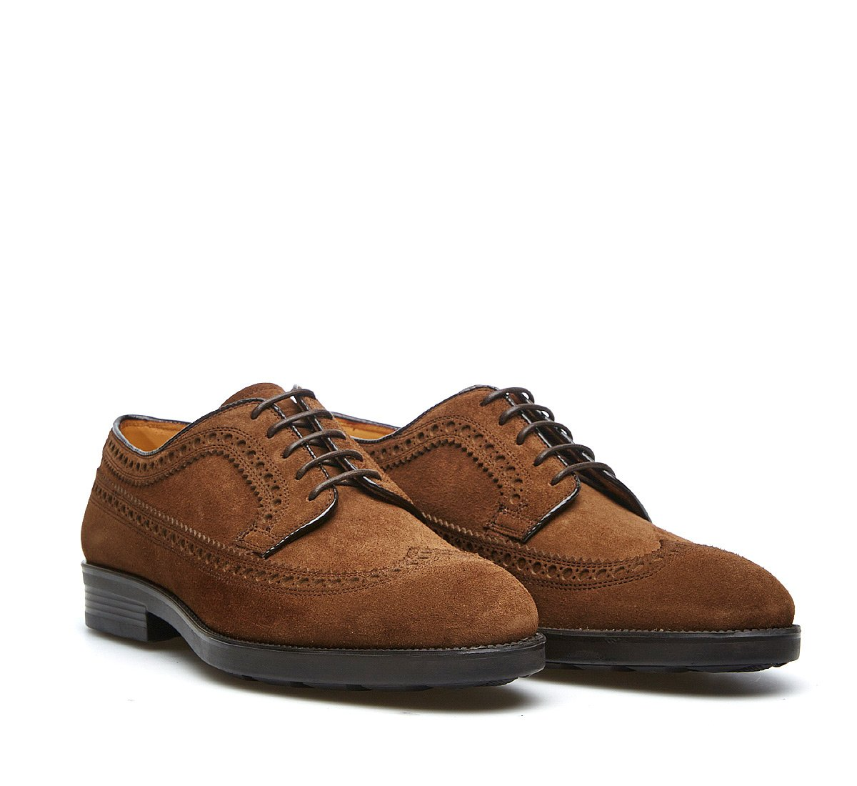 Derby in soft suede