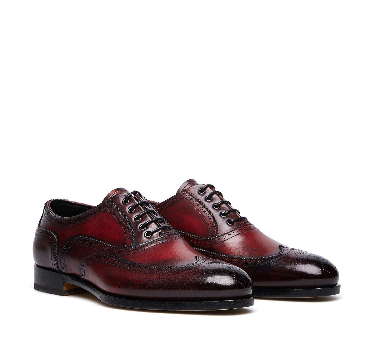 Туфли на шнуровке из ценной телячьей кожи