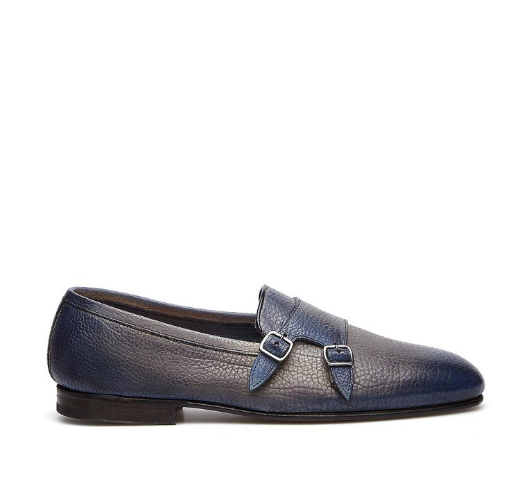 Fabi Flex Goodyear double monk-strap shoes in exquisite hand-buffed calfskin