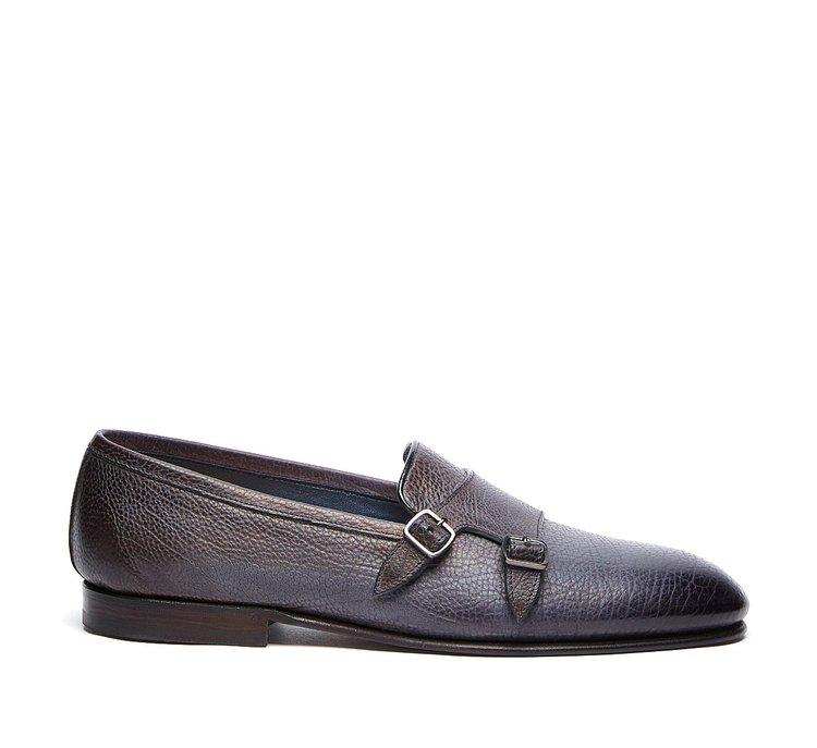 Flex Goodyear double monk calfskin shoes