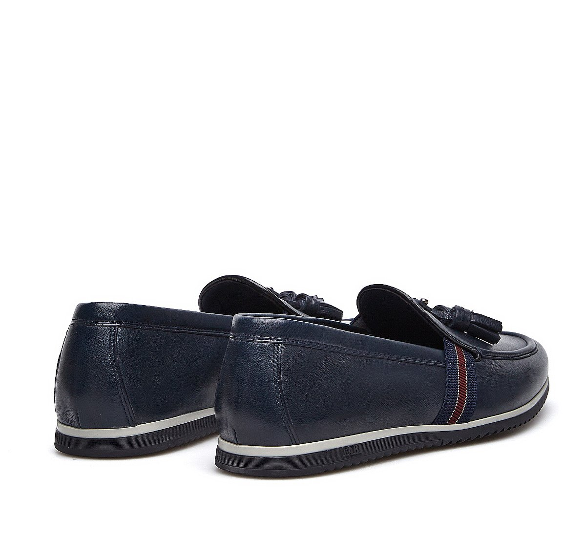 Sporty nappa leather moccasins
