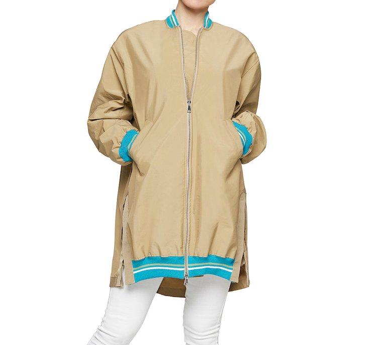 Однотонная куртка-бомбер