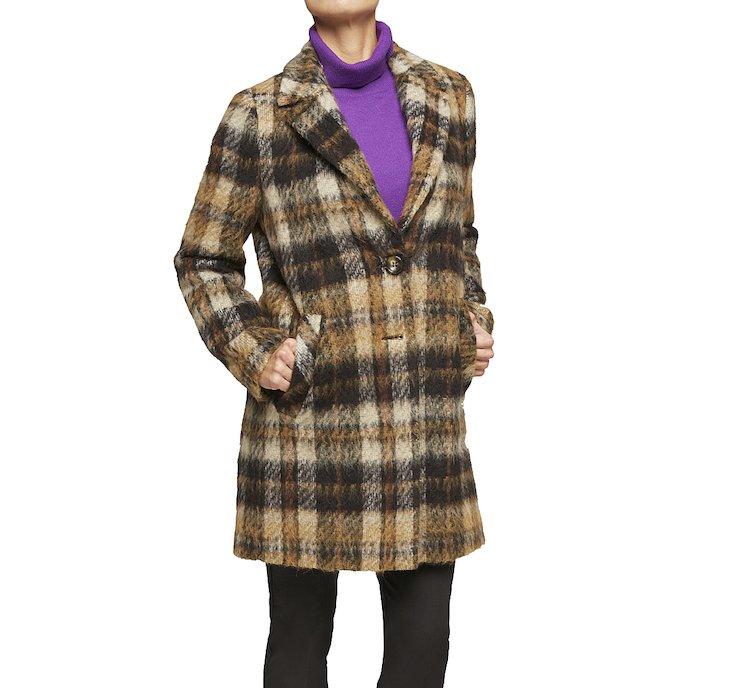 Оригинальное пальто из ткани