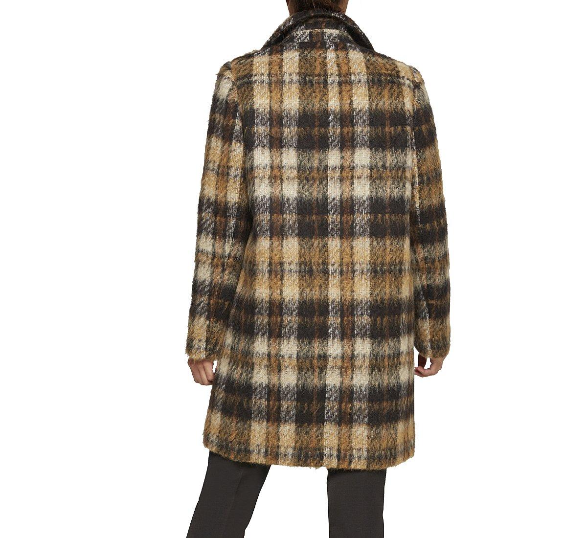 Pattern fabric coat