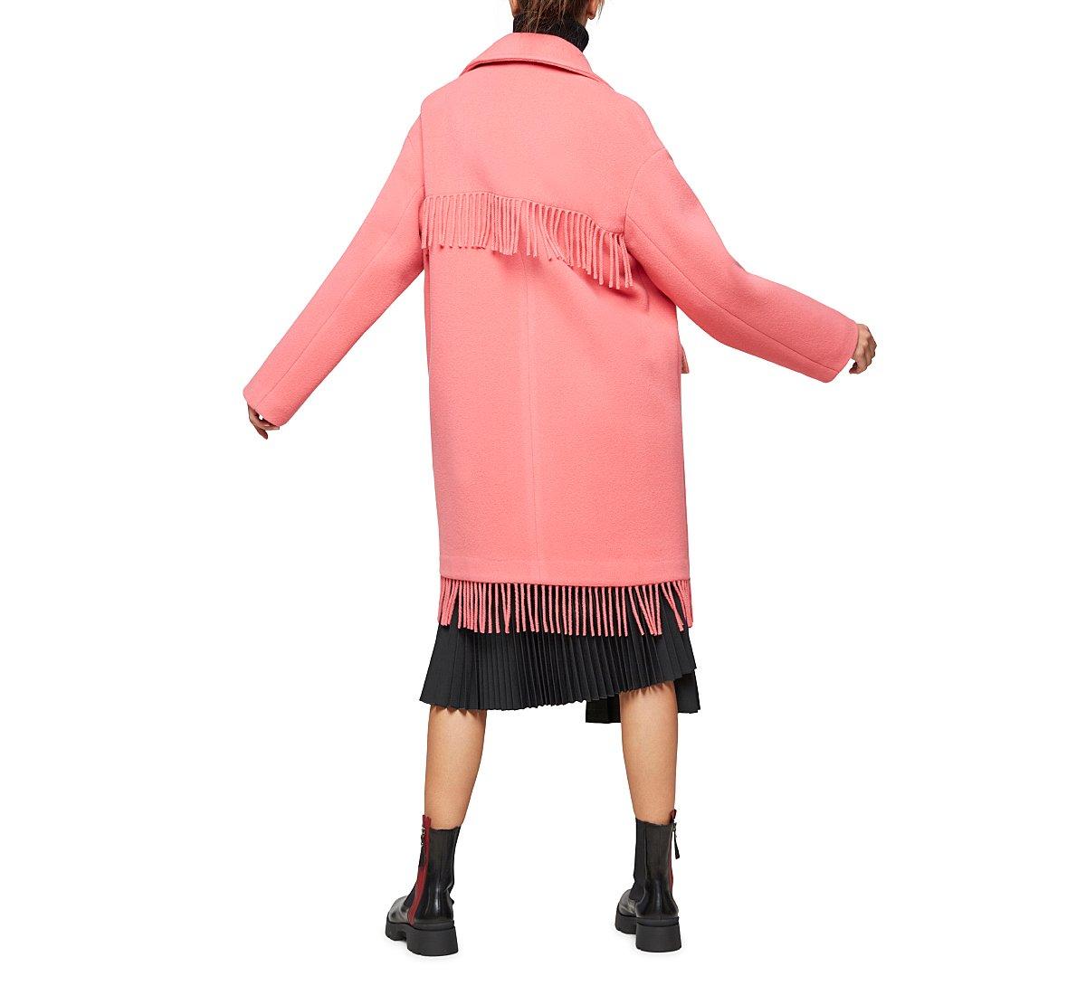 Длинное двубортное пальто