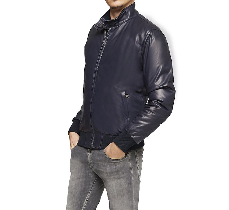 Double-faced leather coat