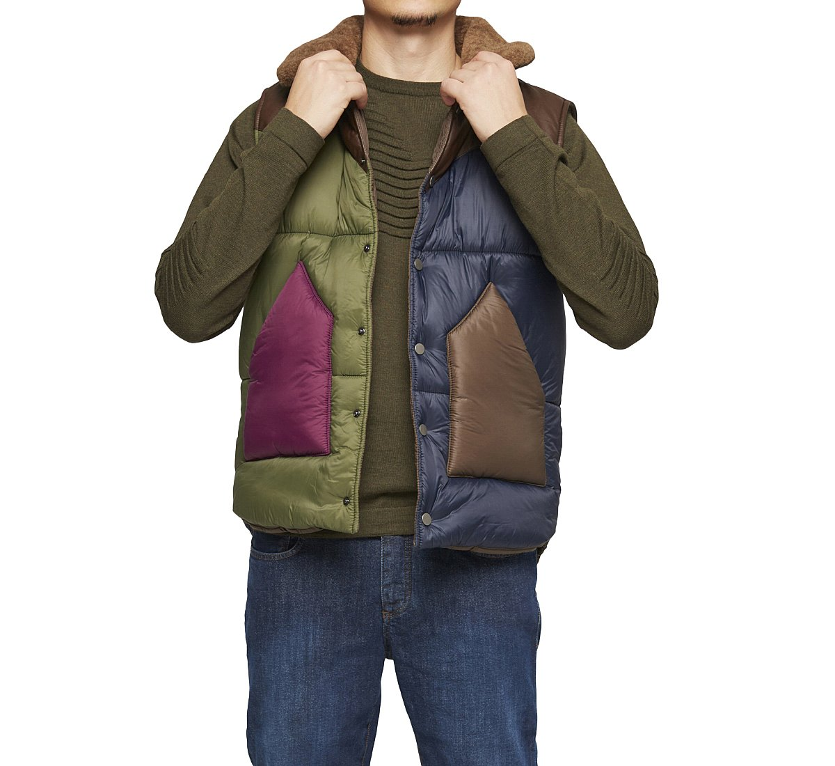 Padded fabric vest