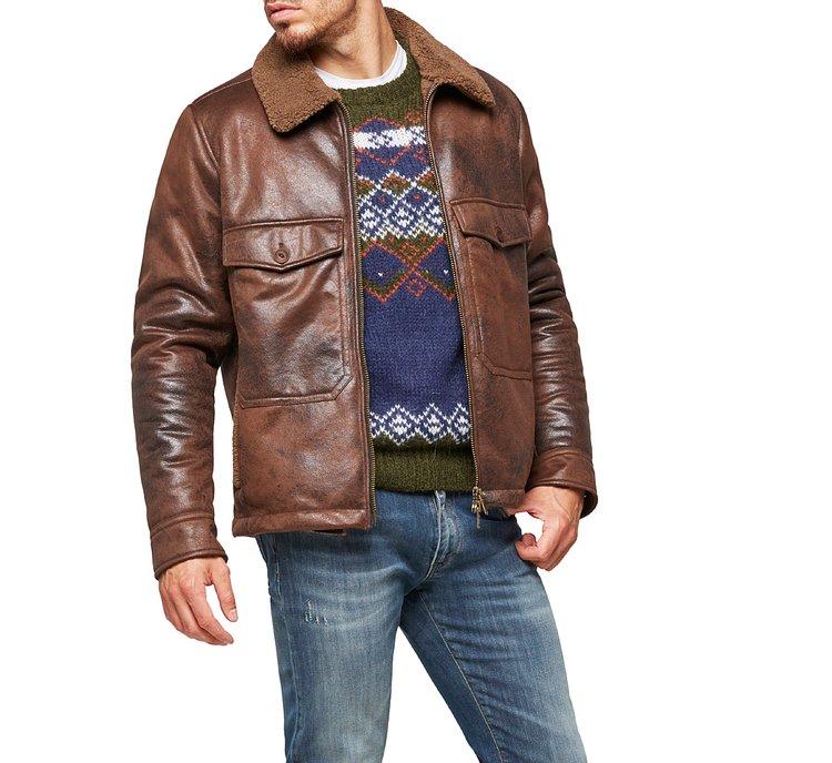 Куртка с воротником с лацканами