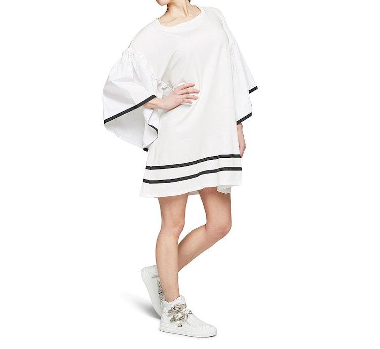 Платье средней длины из хлопка