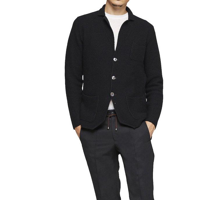 Wool blazer style cardigan
