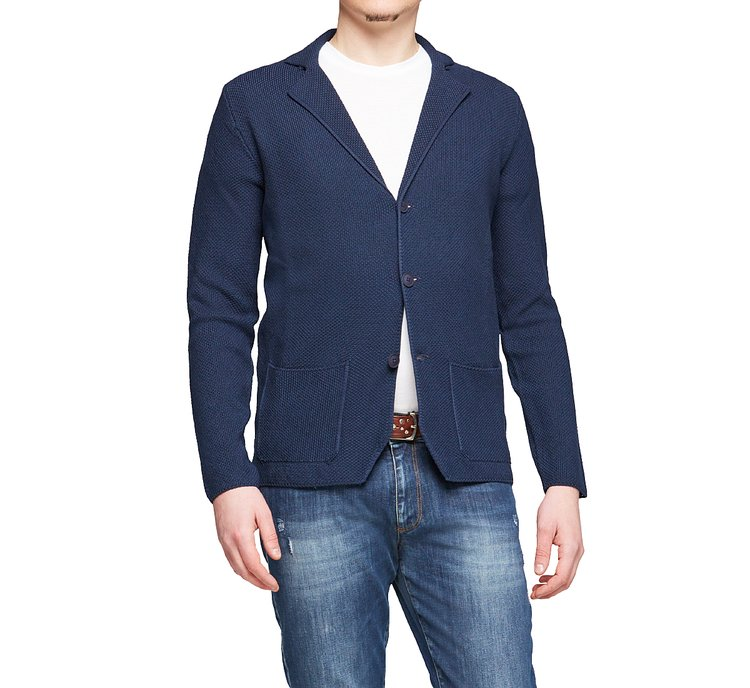Cotton blazer with lapels