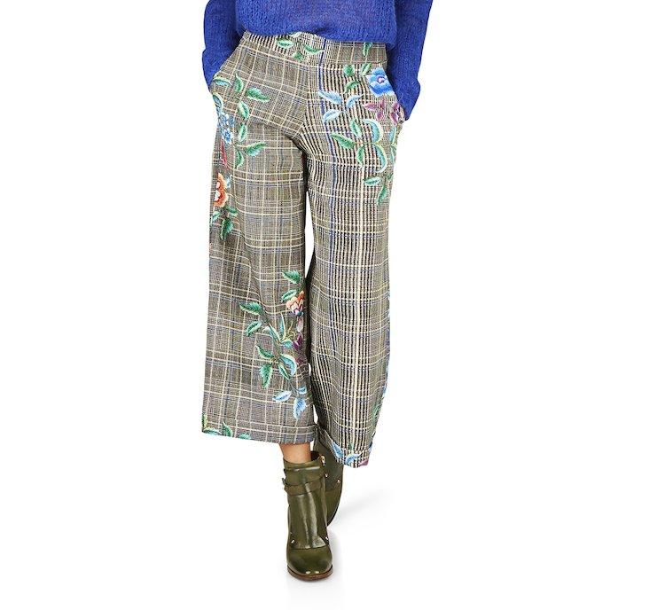 Pantalone stampa floreale in viscosa