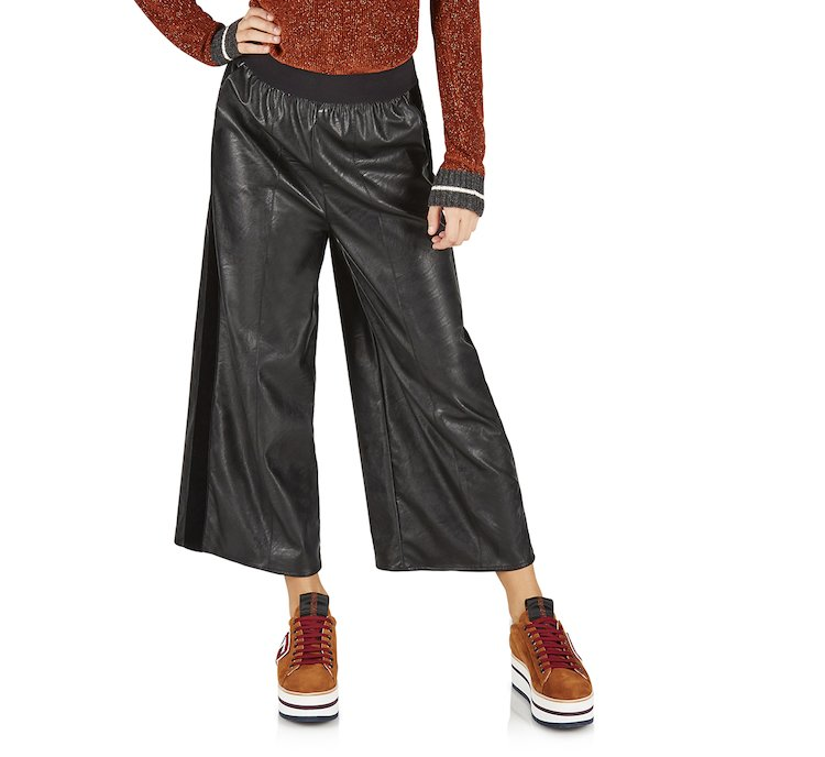 Pantalone gaucho in tessuto