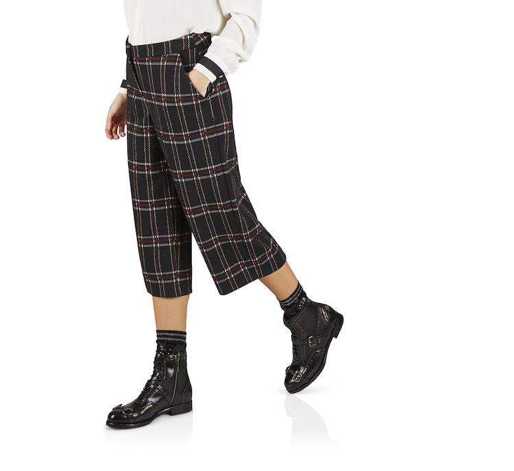 Pantalone tartan in tessuto