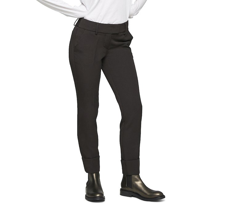 Medium waist classic trousers