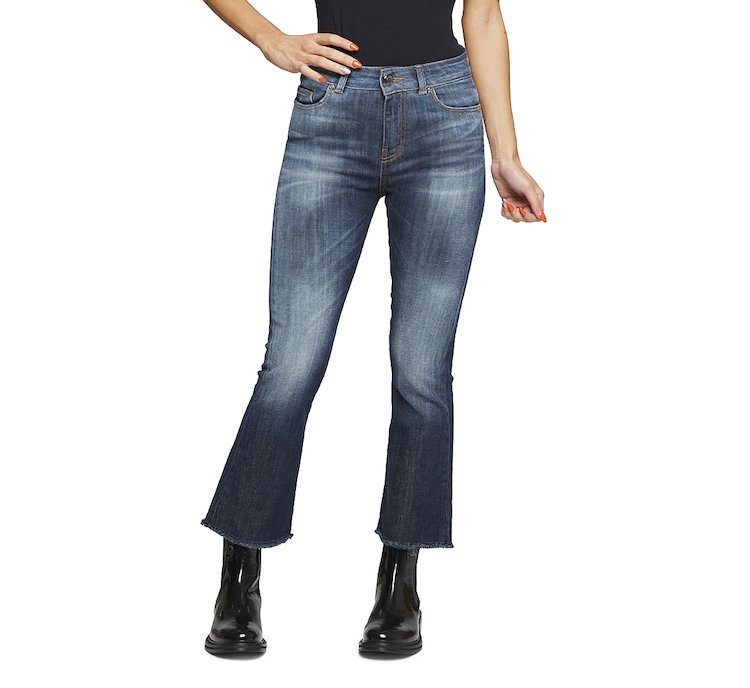 Stretch cotton jeans