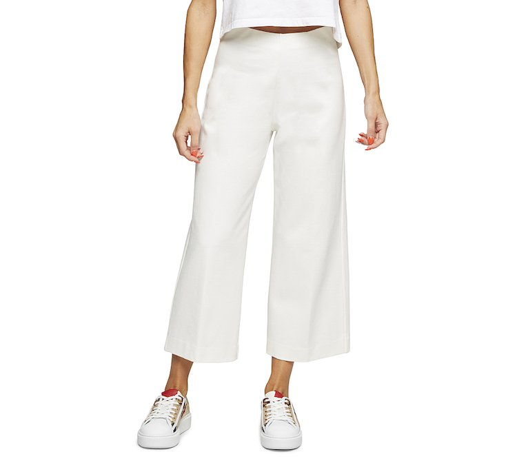 Wide fit trousers in soft viscose