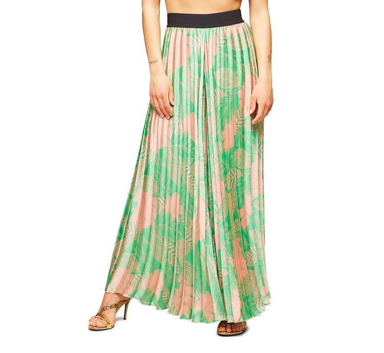 Fabric trousers with floral print