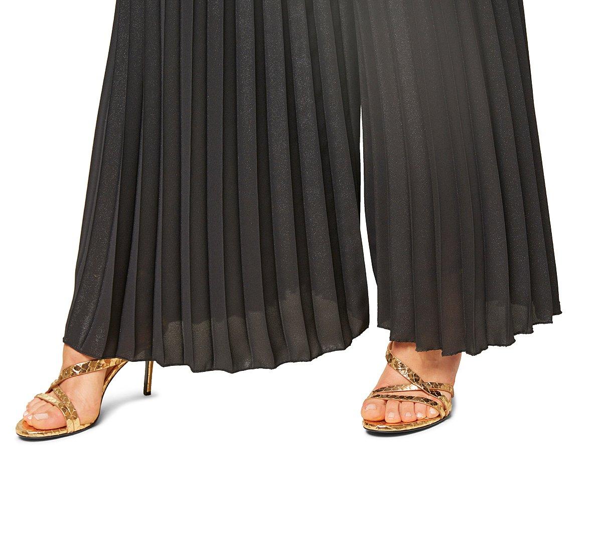Pantaloni a vita alta in tessuto