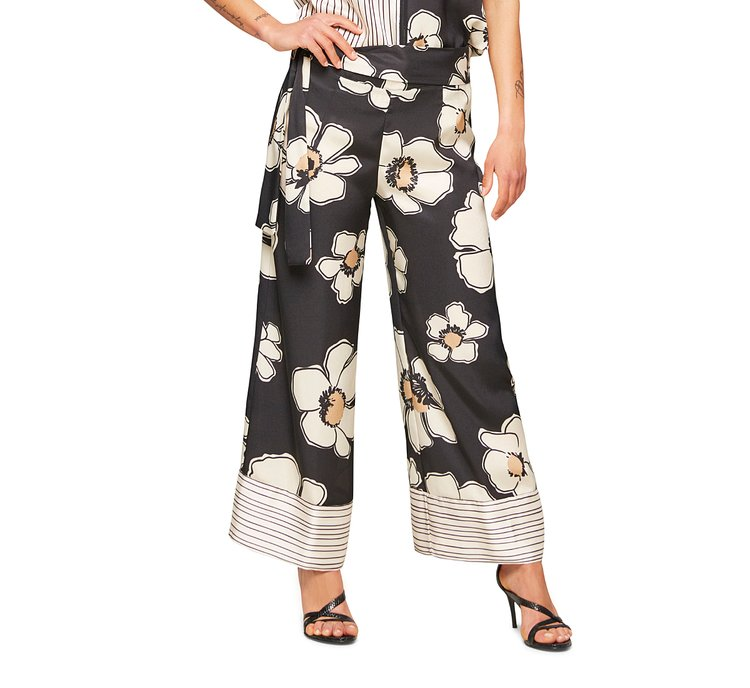 Pantalone fantasia floreale