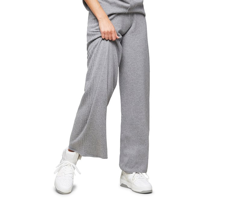 Straight-leg trousers in warm wool