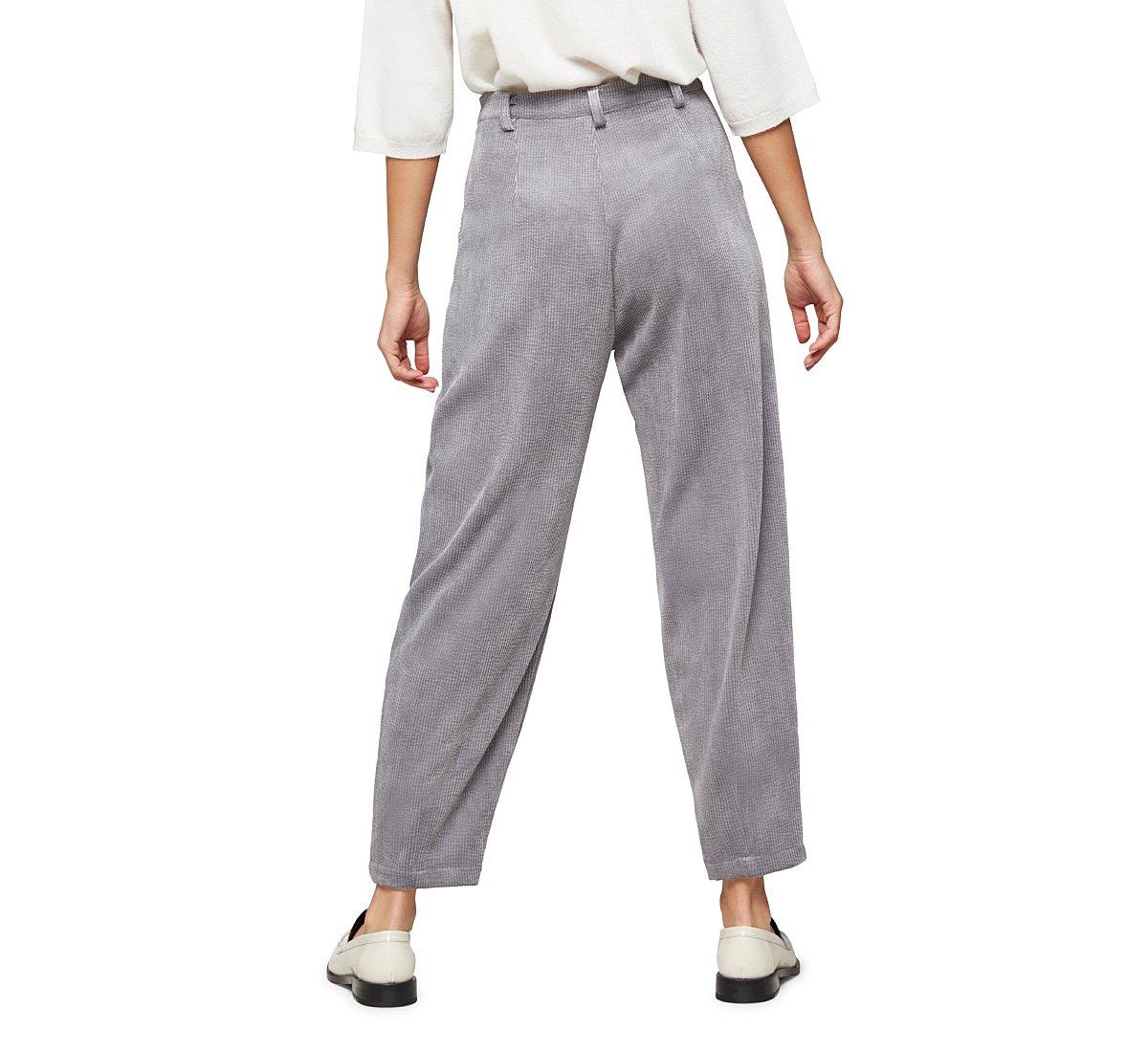 Oversized velvet trousers