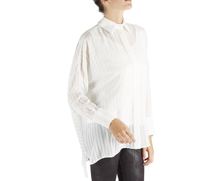 Camicia asimmetrica in tessuto