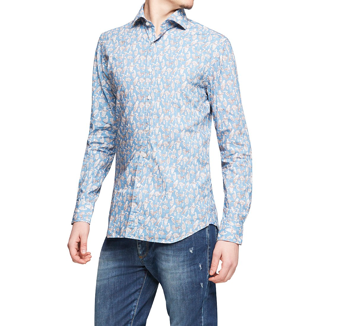 Camicia in cotone regular fit