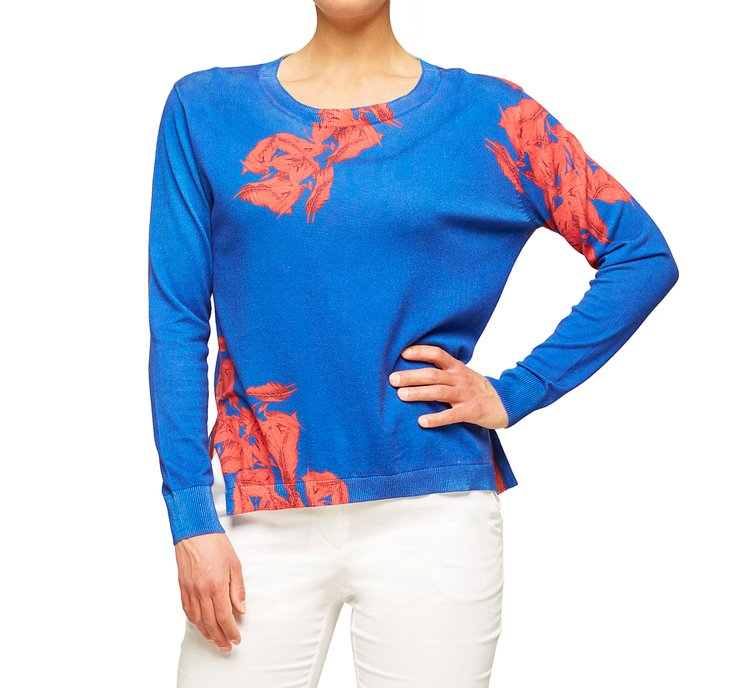 Light cotton and viscose sweater