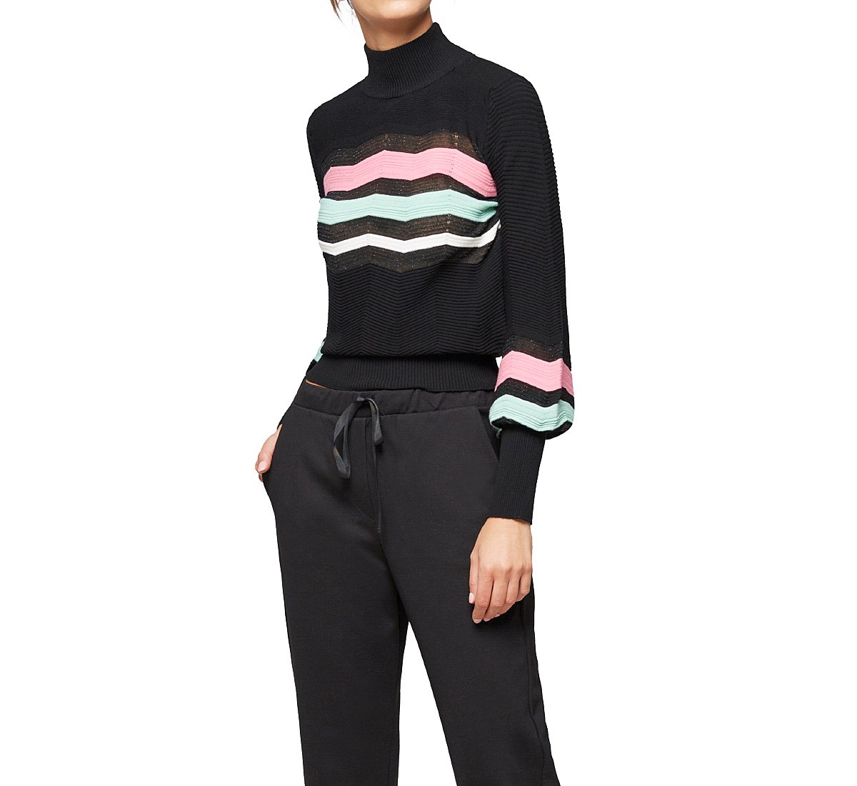 Viscose turtleneck sweater