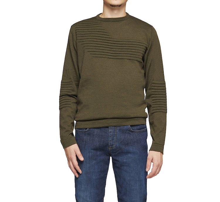 Monocolour wool jersey