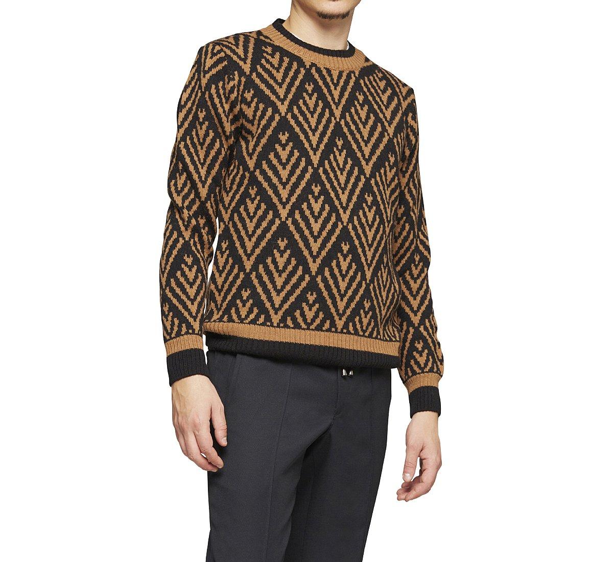 Pullover in stile etnico bicolore