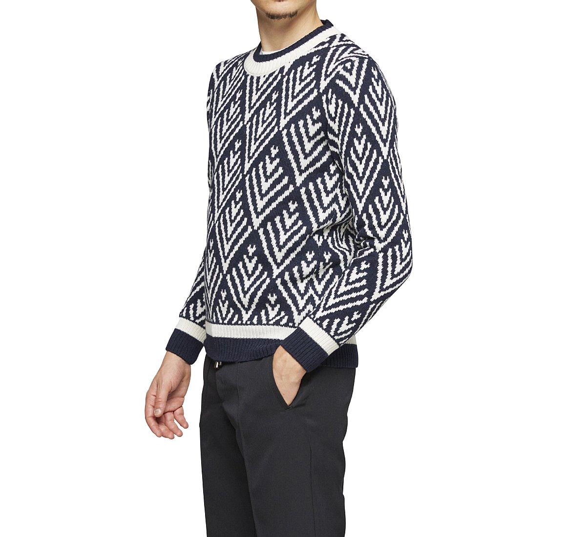 Pullover stile etnico in tessuto