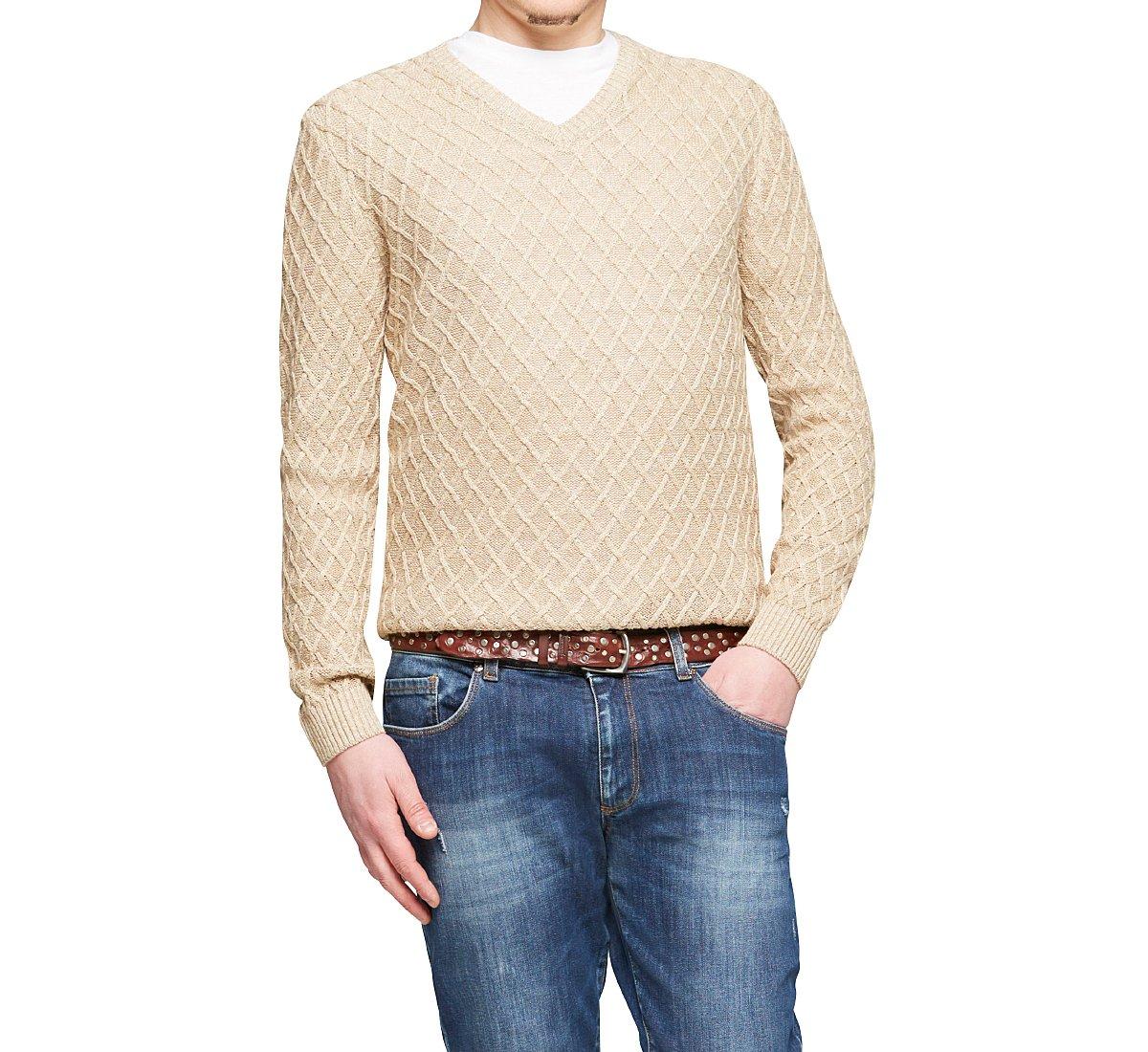Pullover in cotone con scollo a V