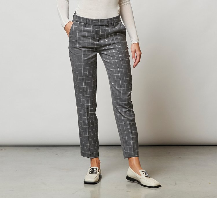 Chequered trousers
