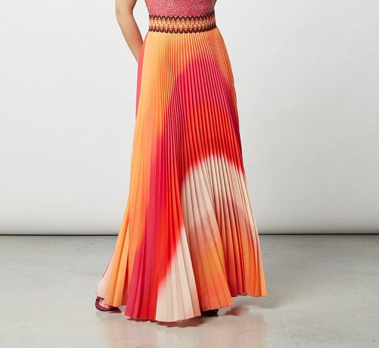 Длинная юбка из легкой ткани