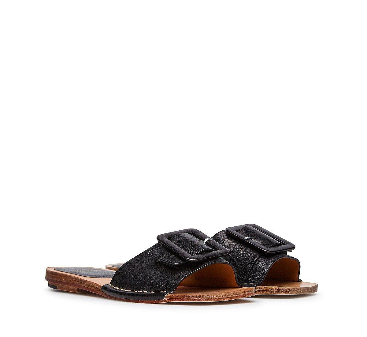 Buffalo leather slipper