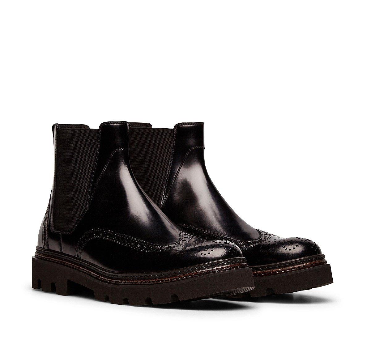 Buffed calfskin Beatle boots