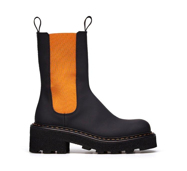 Barracuda rubberised calfskin Beatle boots