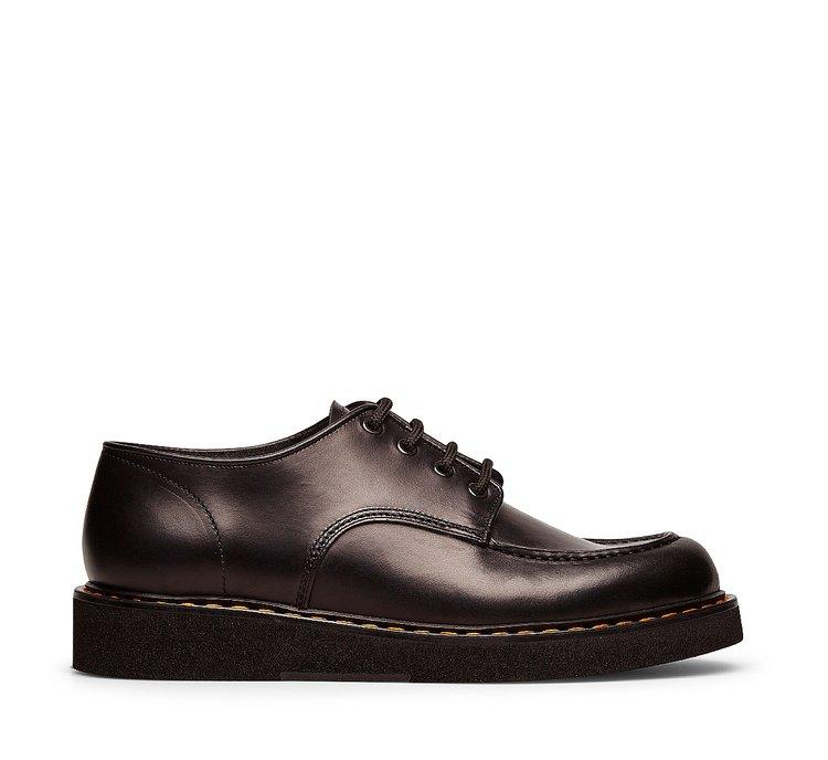 Туфли на шнуровке из телячьей кожи