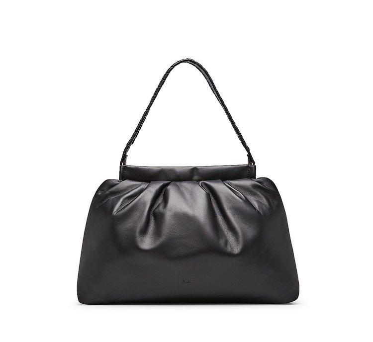 Кожаная сумка-шопер