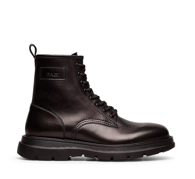 Calfskin combat boots
