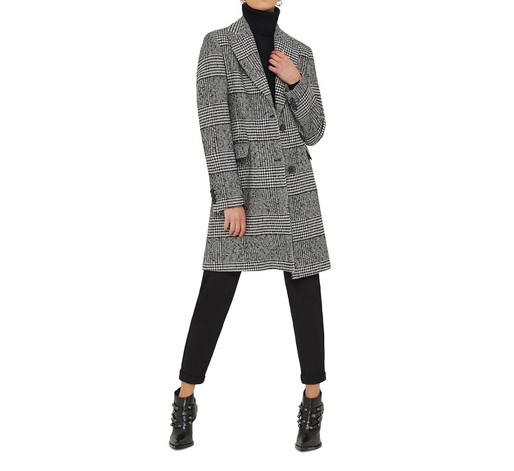Chequered coat