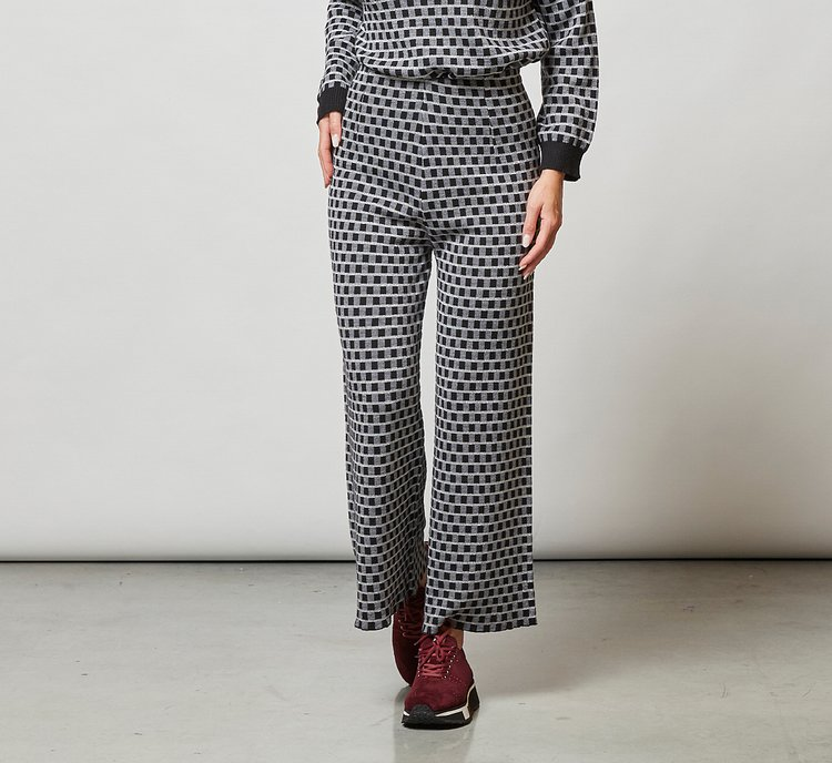 Pantalone palazzo in lana